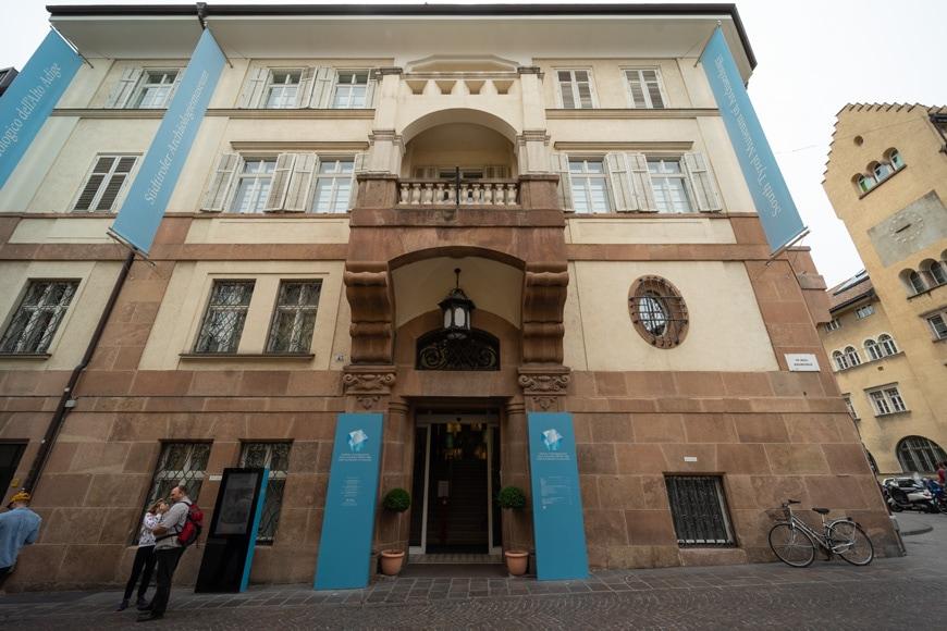South Tyrol Museum of Archaeology Bolzano Bozen facade