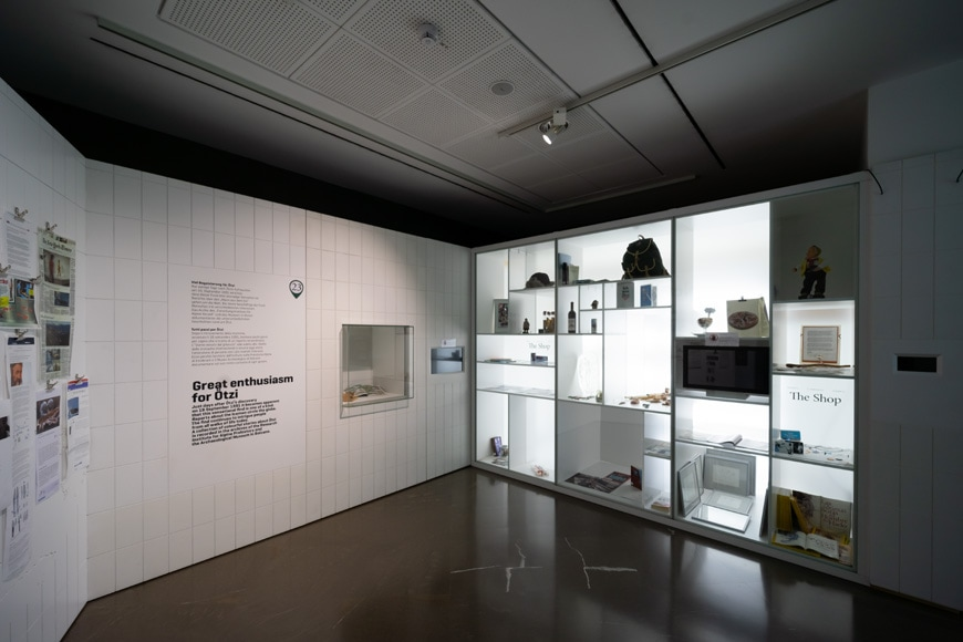 South Tyrol Museum of Archaeology Bolzano Bozen prehistory permanent exhibition 1 Inexhibit