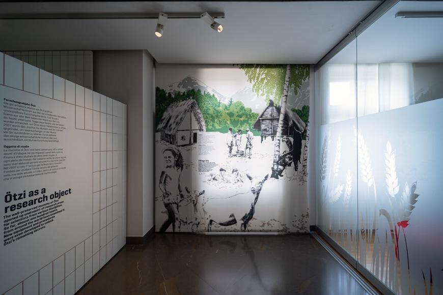 South Tyrol Museum of Archaeology Bolzano Bozen prehistory permanent exhibition 4 Inexhibit