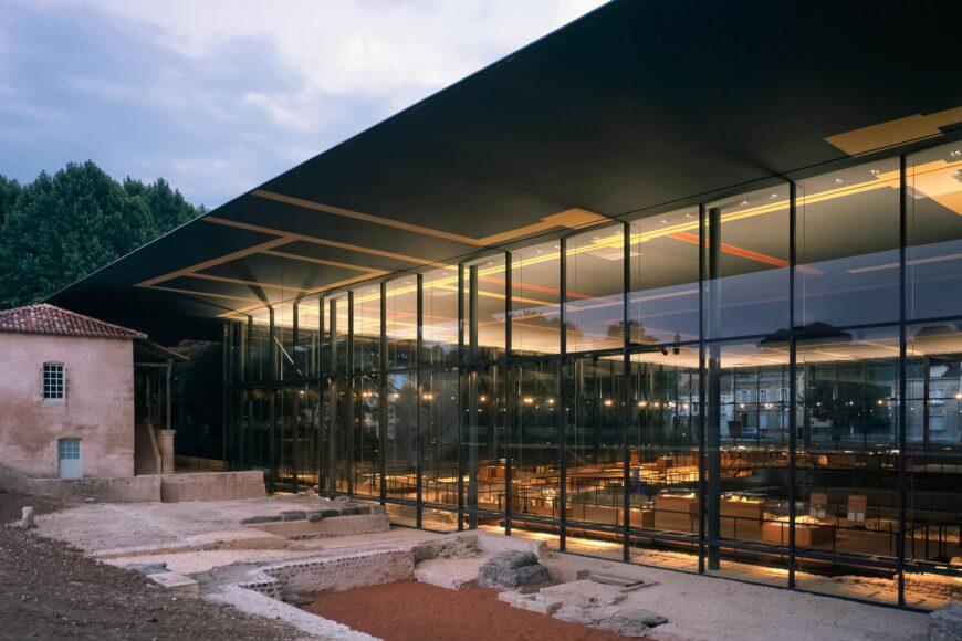 Vesunna Gallo-Roman Museum Perigueux Dordogne Jean Nouvel exterior 1