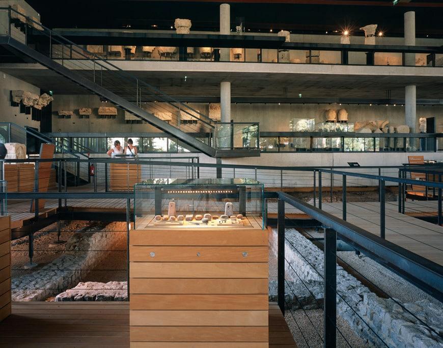 Vesunna Gallo-Roman Museum Perigueux Dordogne Jean Nouvel interior 3
