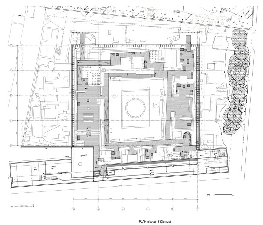 Vesunna Gallo-Roman Museum Perigueux Dordogne Jean Nouvel plan