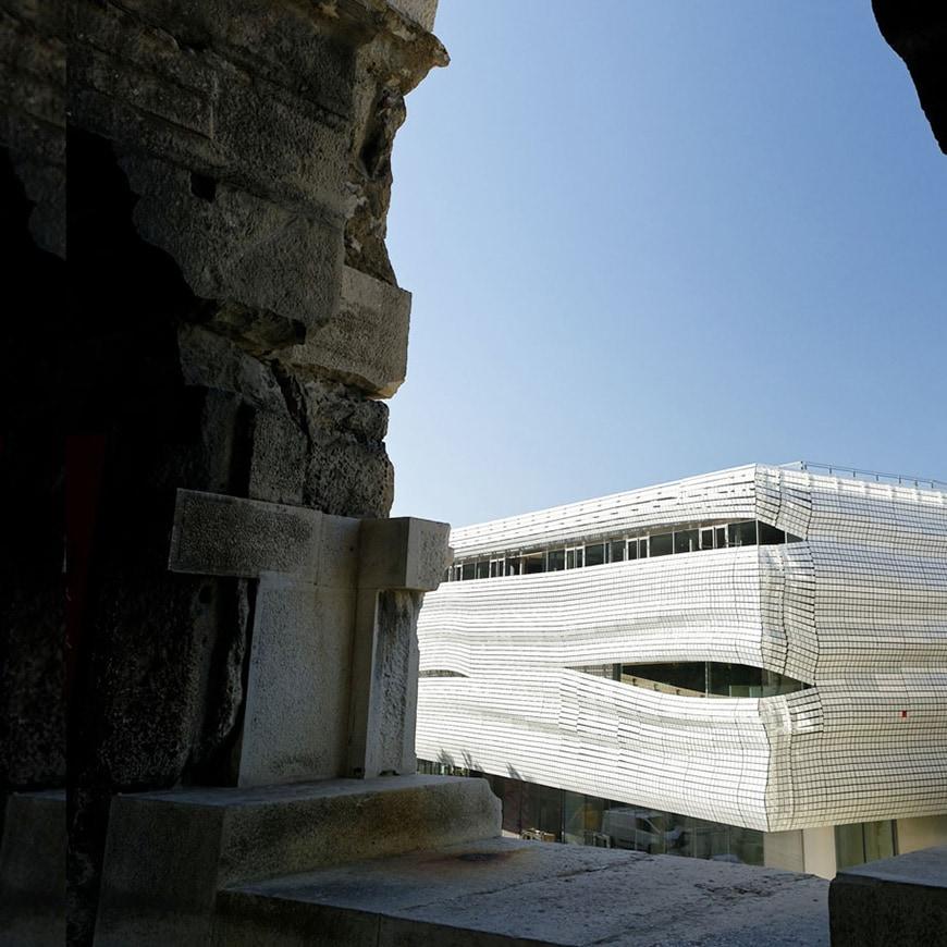 Musée de la Romanité, Nîmes, Elizabeth de Portzamparc, exterior 6