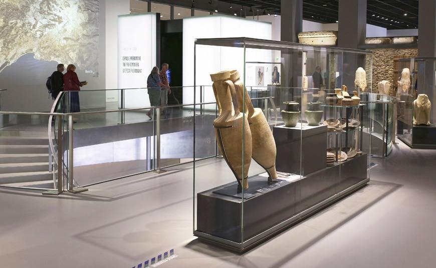 Musée de la Romanité, Nîmes, Elizabeth de Portzamparc, permanent exhibition 1