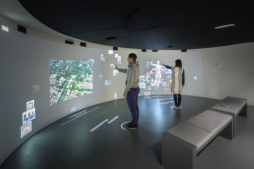 Musée de la Romanité, Nîmes, Elizabeth de Portzamparc, permanent exhibition interactive