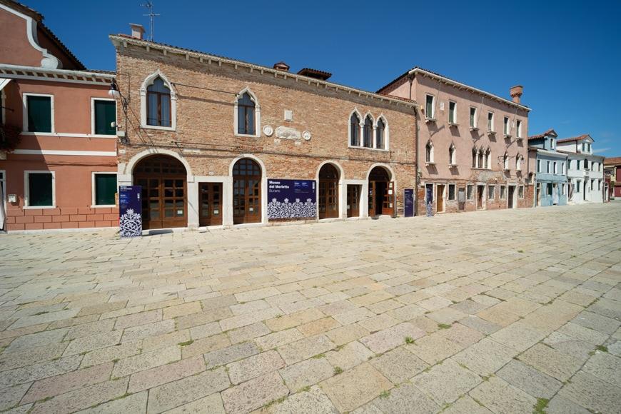 Burano island Venice Museo del Merletto Lace Museum Inexhibit
