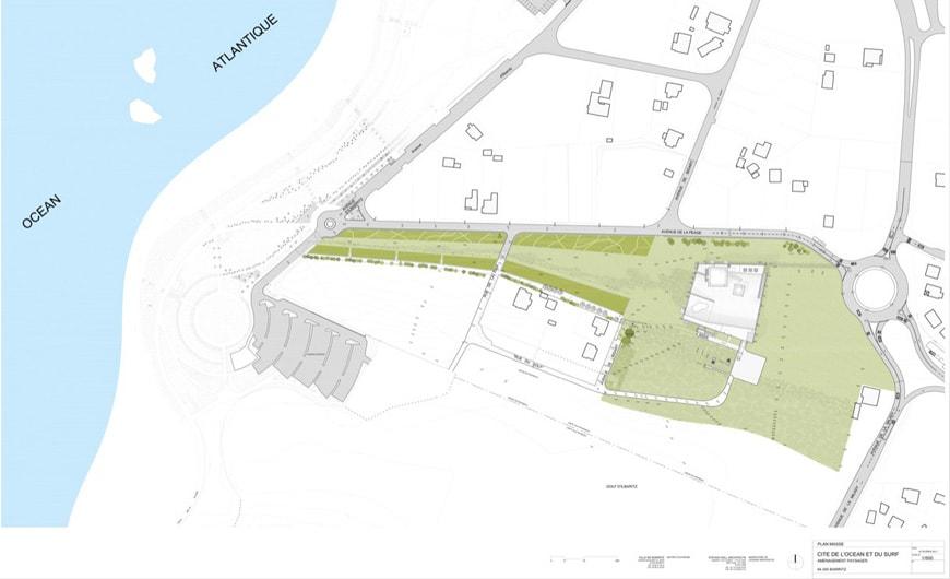 Cité Ocean Biarritz Steven Holl site plan