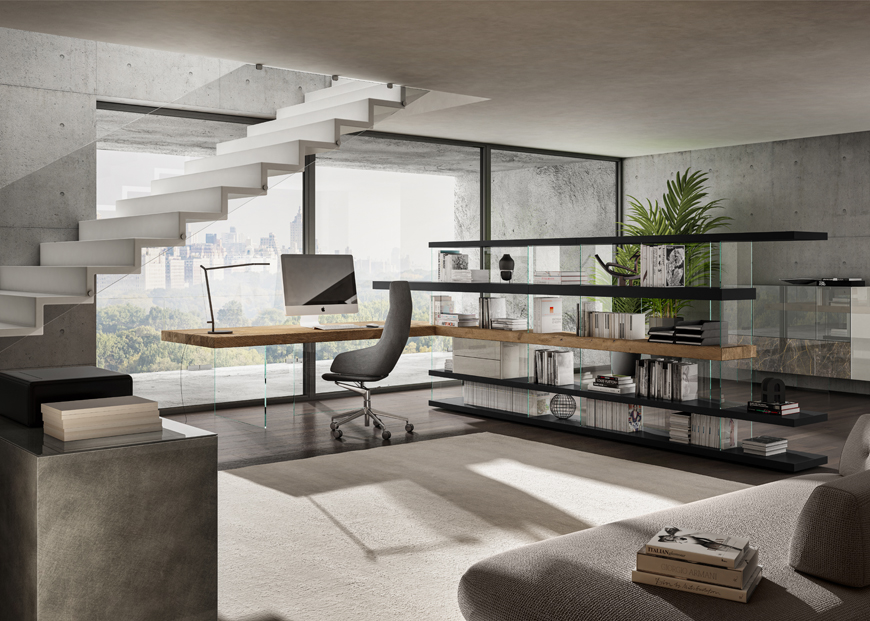 Milano-design-city-Lago-1255-home-office-air-bookshelf-and-air-table