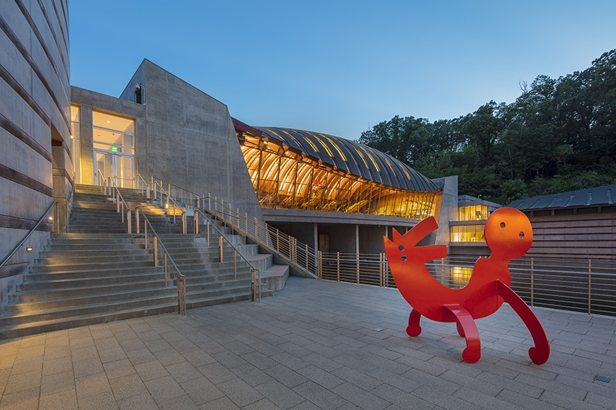 Crystal Bridge Museum of American Art, Keith Haring sculpture