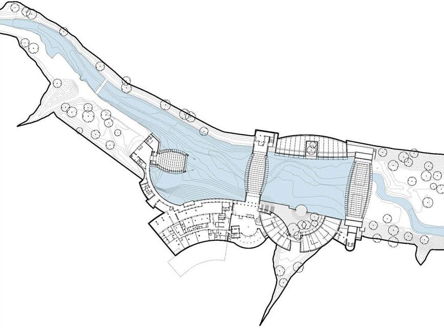 Crystal Bridge Museum of American Art, Moshe Safdie, site plan