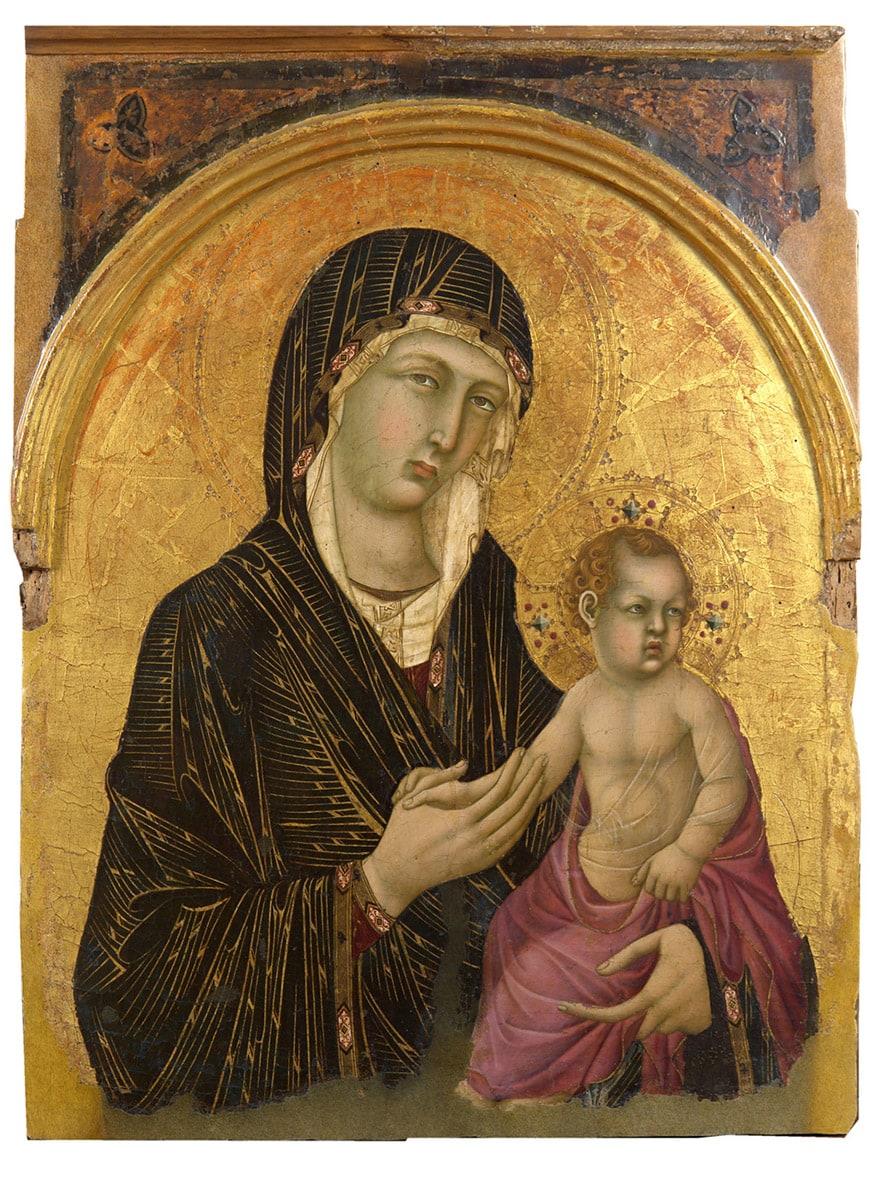 Pinacoteca Nazionale Siena Museum, Madonna and Child, Simone Martini