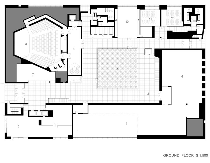 Aga-Khan-Museum-Toronto-Fumihiko-Maki-ground-floor-plan