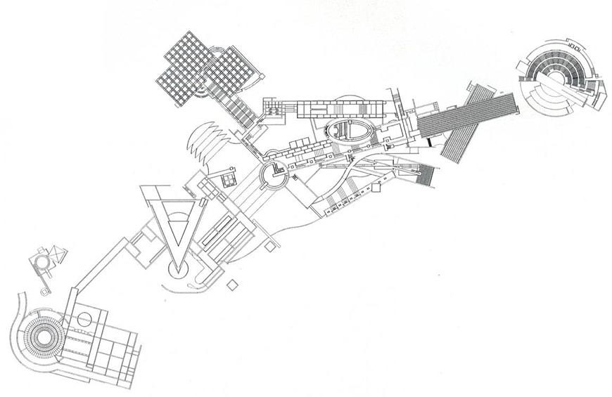 Tadao Ando, Awaji Yumebutai, site plan