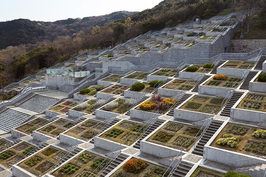 Tadao Ando, Hundred Step Garden, Awaji Yumebutai 01