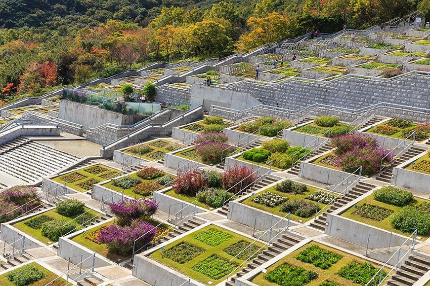Tadao Ando, Hundred Step Garden, Awaji Yumebutai 03