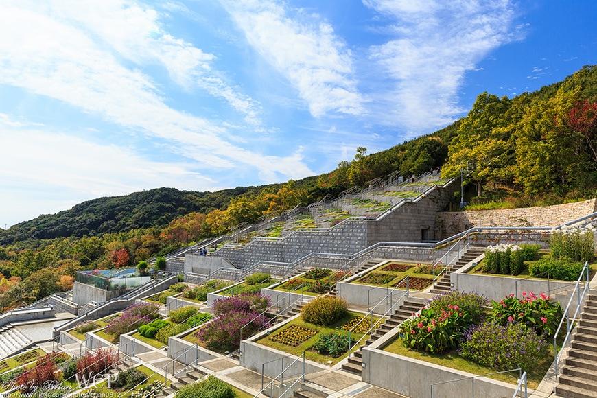 Tadao Ando, Hundred Step Garden, Awaji Yumebutai 04