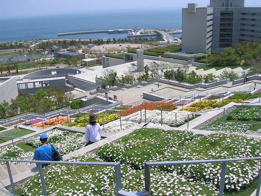 Tadao Ando, Hundred Step Garden, Awaji Yumebutai 10