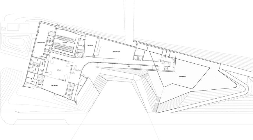 US Olympic & Paralympic Museum, Colorado Springs, Diller Scofidio Renfro atrium ground floor plan