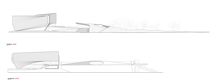 US Olympic & Paralympic Museum, Colorado Springs, Diller Scofidio Renfro elevations