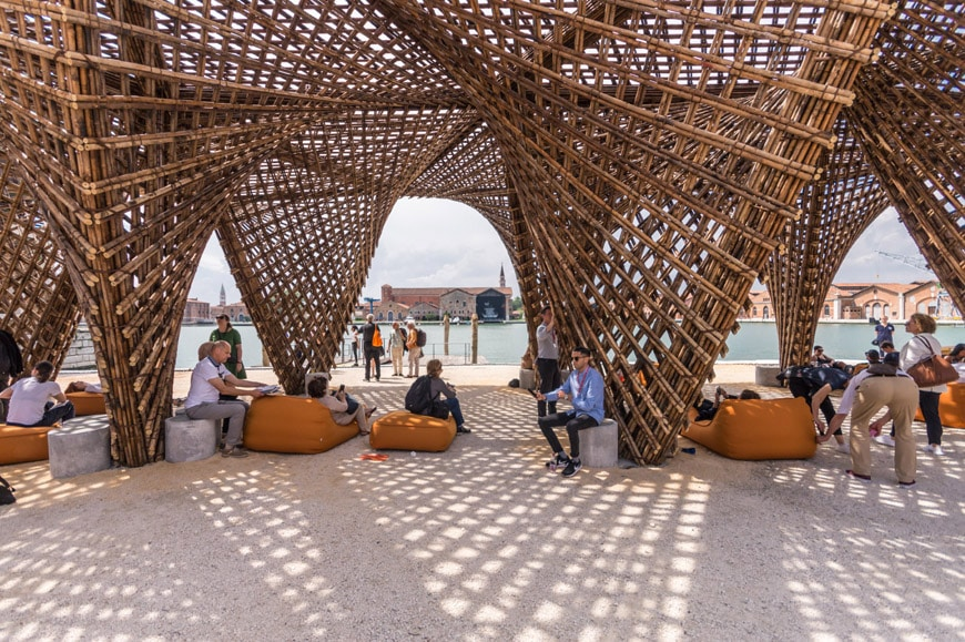 Vo Trong Nghia-Bamboo Stalactite pavilion-2018 Venice Architecture Biennale-photo-Inexhibit 6