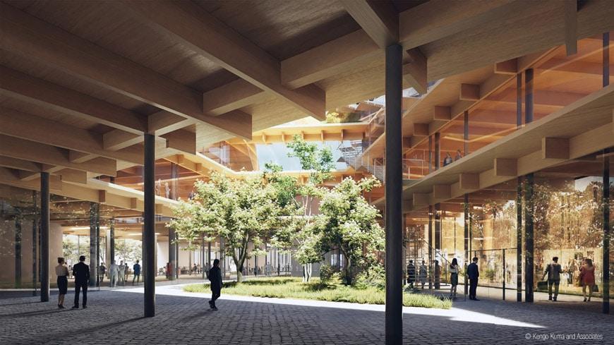 Kengo-Kuma-biophilic-office-Milan-Pre-04-Exterior-Render-Courtyard