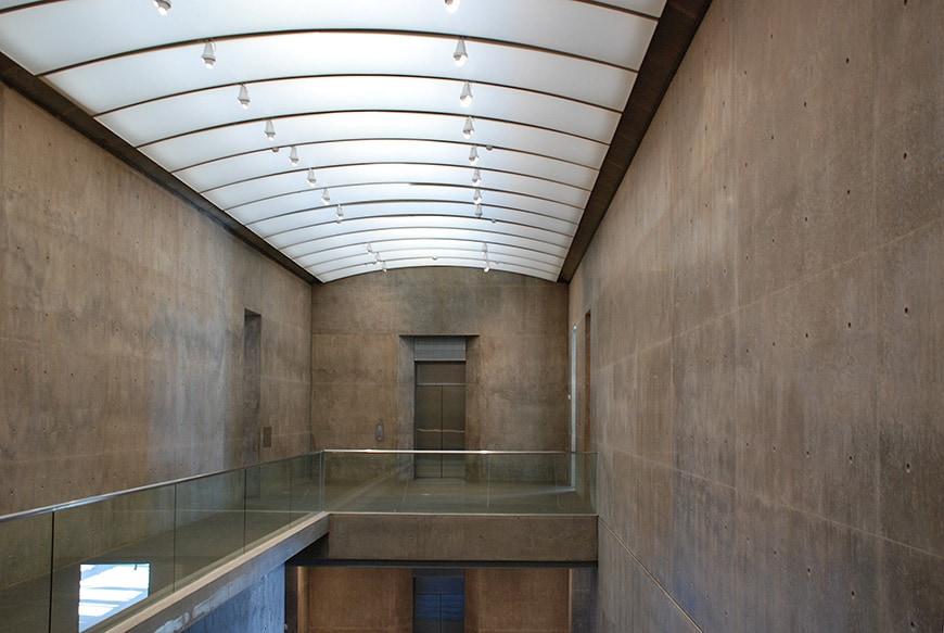 Museum of Modern Art Fort Worth, Tadao Ando, interior 1