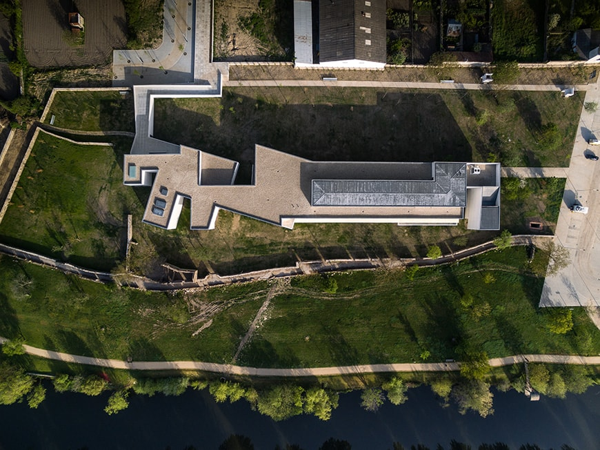 Nadir Afonso Contemporary Art Museum Chaves, Alvaro Siza aerial 2