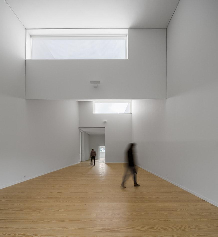 Nadir Afonso Contemporary Art Museum Chaves, Alvaro Siza interior 1