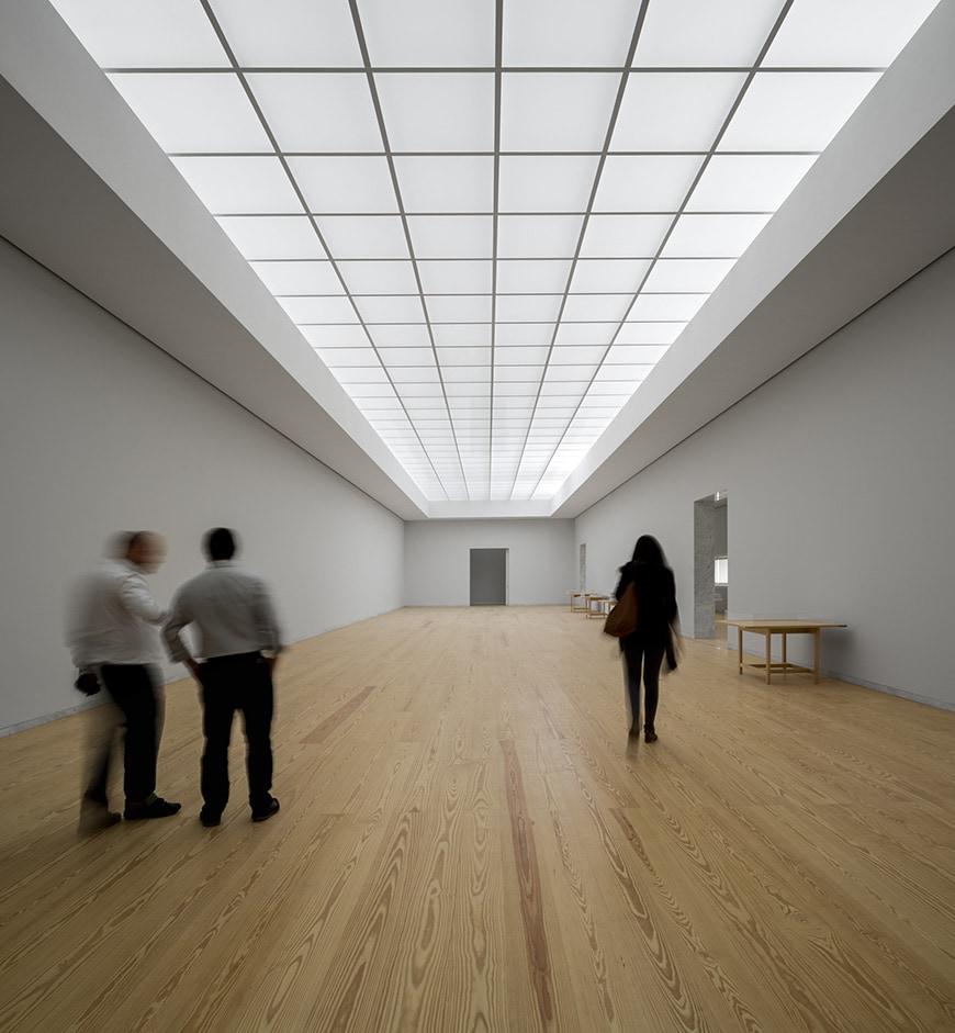 Nadir Afonso Contemporary Art Museum Chaves, Alvaro Siza permanent exhibiton gallery