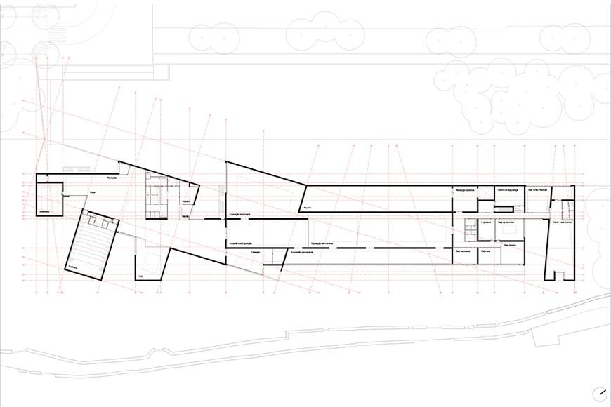 Nadir Afonso Contemporary Art Museum Chaves, Alvaro Siza second floor plan