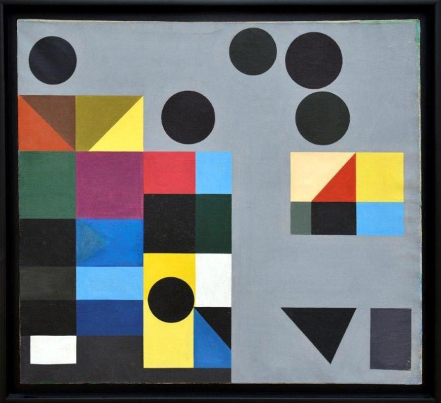Nadir Afonso, geometric composition, painting, 1950