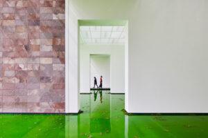 Olafur-Eliasson-Life-Beyeler-interior-2-with-people-photo-Mark-Niedermann-cover