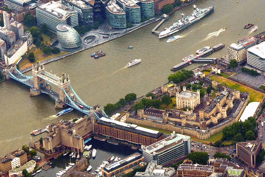Tower of London aerial 2