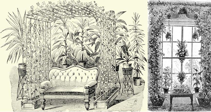 victorian-plants-window-arrangement-and-plants-trellis-via-oldhouseonline