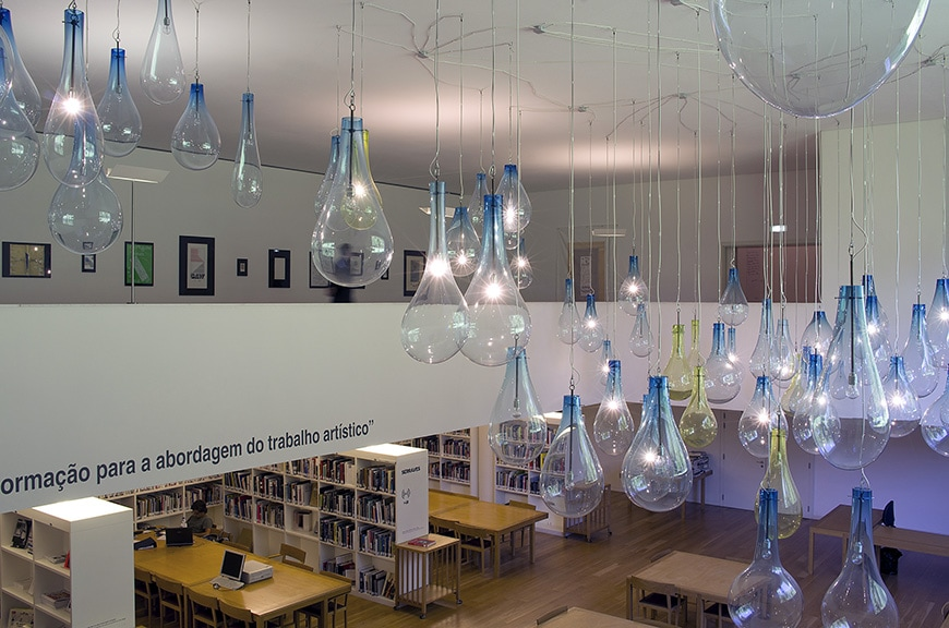 Museu de Arte Contemporânea de Serralves, Porto, Alvaro Siza Vieira library