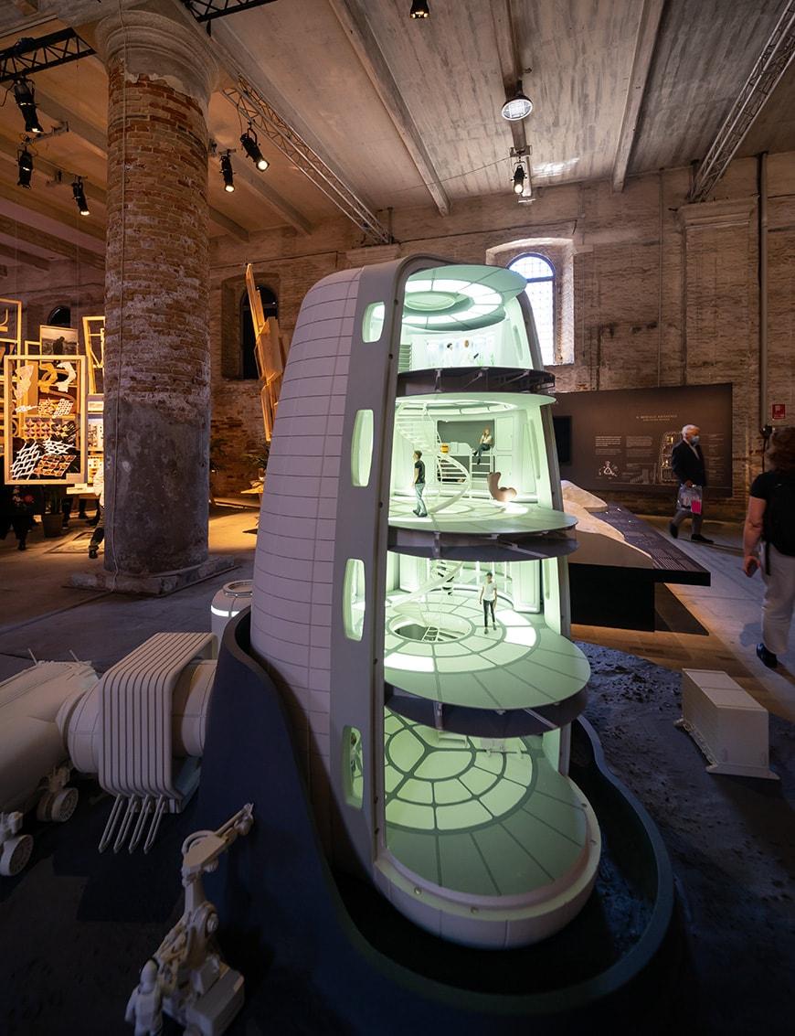 Skidmore Owings & Merrill, Moon Village, Venice Architecture Biennale 2021, Bianchini Inexhibit s
