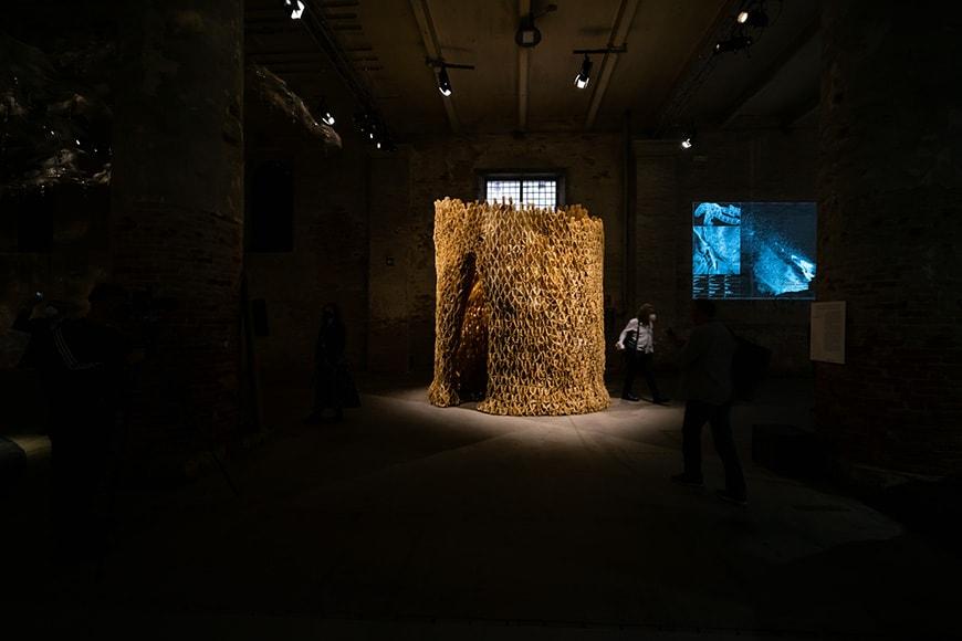 Studio Libertiny, beehive architecture, Arsenale, Venice Biennale 2021 Bianchini Inexhibit s