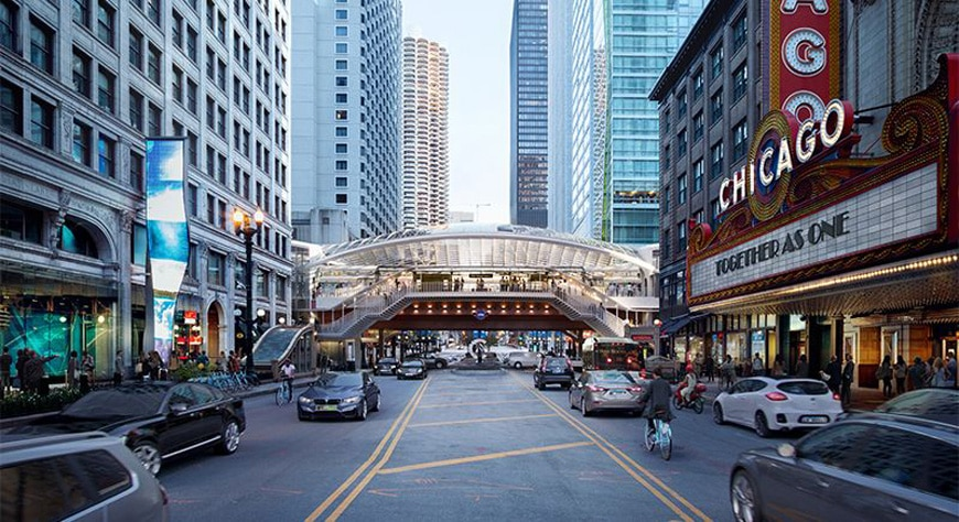 SOM-Chicago-State-Lake-station-external view-day
