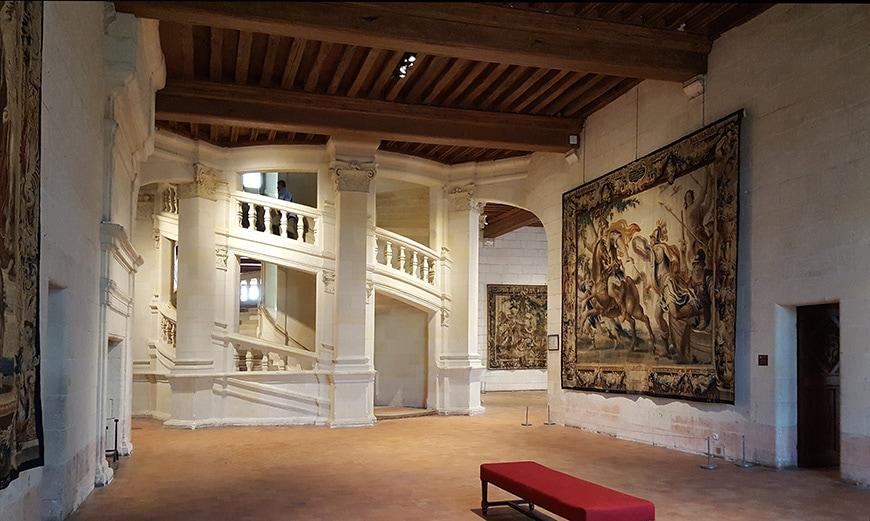 Château de Chambord castle, interior view 1