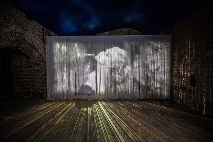 Fellini Museum Rimini, permanent exhibition, La Dolce Vita film clip