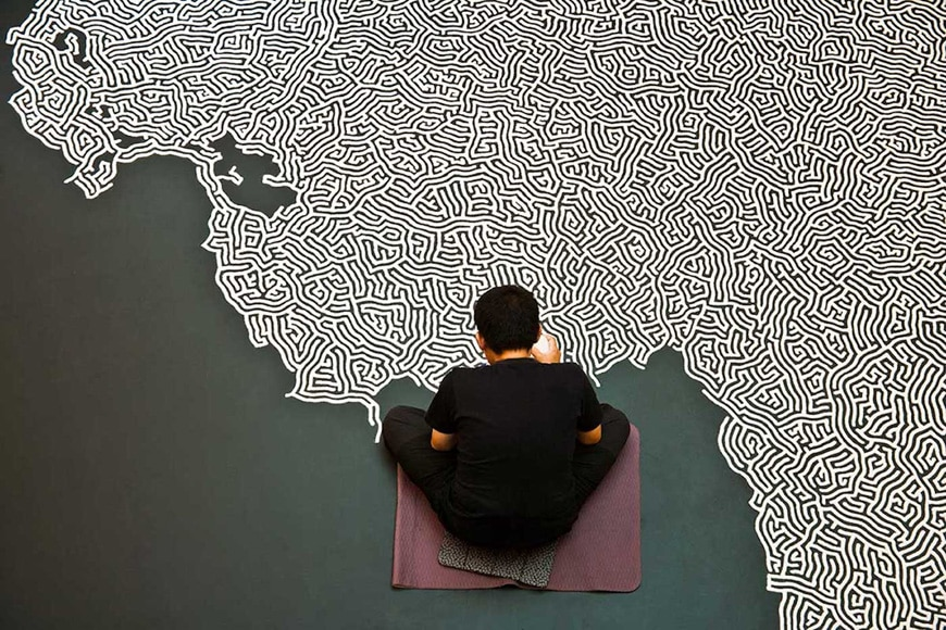 Motoi Yamamoto, salt Labyrinth installation, Cologne 4