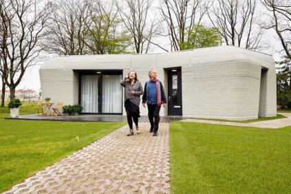 Project Milestone 3D-printed concrete house, Eindhoven, exterior 1