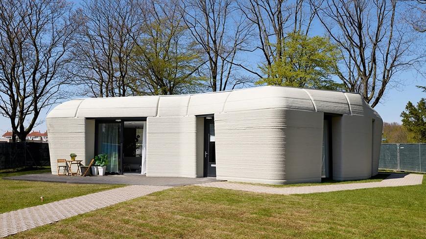 Project Milestone 3D-printed concrete house, Eindhoven, exterior