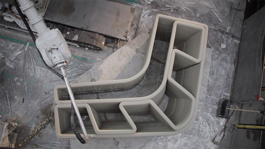 Project Milestone 3D-printed concrete house, Eindhoven, manufacturing