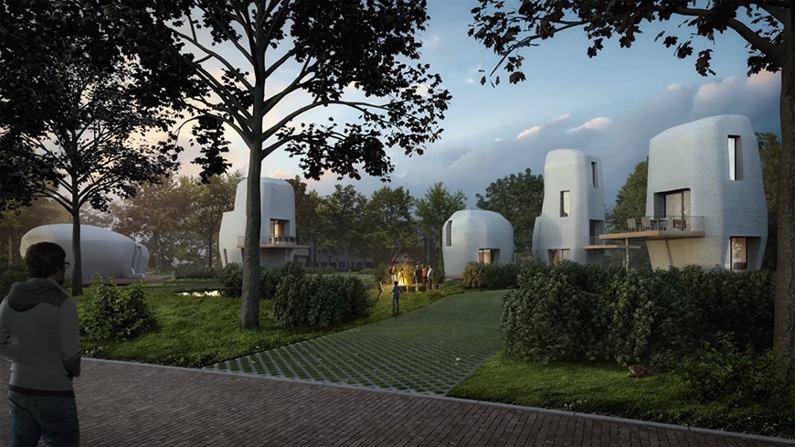 Project Milestone, 3D-printed residential complex, Eindhoven, the Netherlands