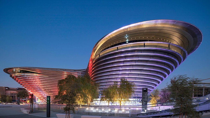 EXPO 2020 Dubai, Alif - The Mobility Pavilion, Foster + Partners