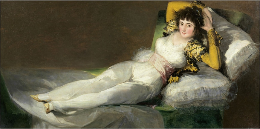 Francisco-de-Goya-Bekleidete-Maya-La-maja-vestida