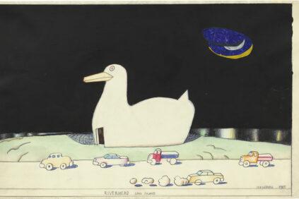 Saul-Steinberg-Riverhead-Long-Island-1985-triennale-Milano